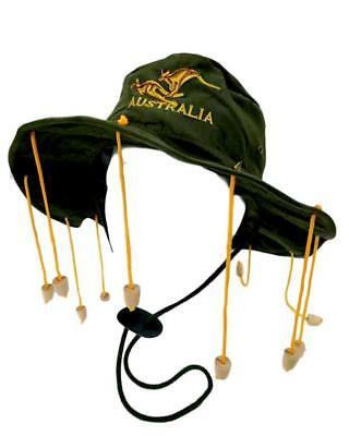 New Australian Souvenir Aussie Cork Hat Australia Day Bush Hat Fancy Dress Green