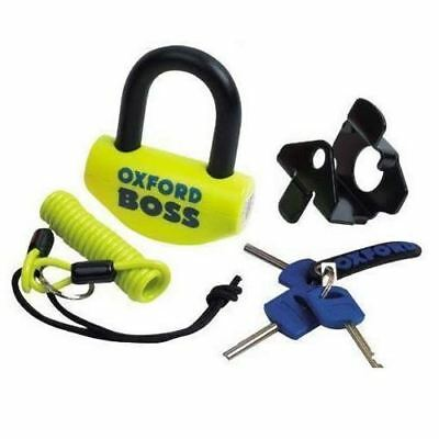 Oxford Boss Motorcycle Bike Universal Super Strong Security Disc Lock New Yellow
