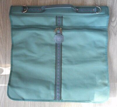 CARLTON INTERNATIONAL Suit Carrier -Travel Case  Dress Cover in green x 2 useage