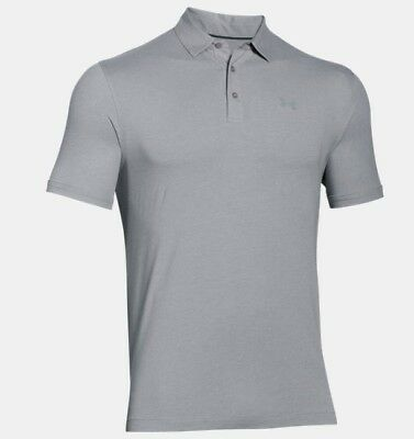 Under Armour  Charged Cotton Scramble Polo - true gray heather/ -/ steel Gr. LG