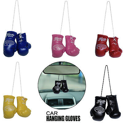 NEW Car Mirror Hanging Novelty Mini Boxing Gloves Club Crest Accessories Gift