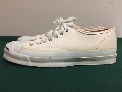 VTG 70's DEADSTOCK USA MADE White Jack Purcell Shoes Sneakers 9 USA MINT