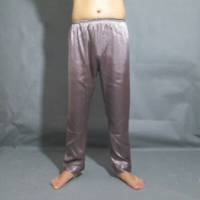 Mens Silk Satin Pajamas Pyjamas Loose Lounge Pants Sleep Bottoms Pajama Pant