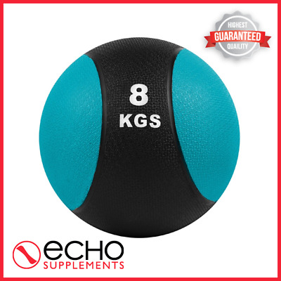 CoreX Fitness Gym Strength Core Medicine Ball - 8KG (Blue) FAST FREE DELIVERY