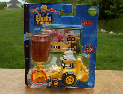 Bob the Builder Diecast Take Along SCOOP Digger Vehicle Toy - Cowboy Version HTF