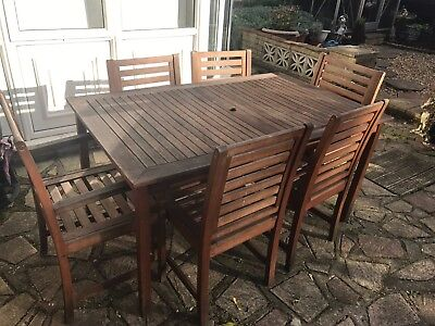 Garden Table And 6 Chairs Picclick Uk