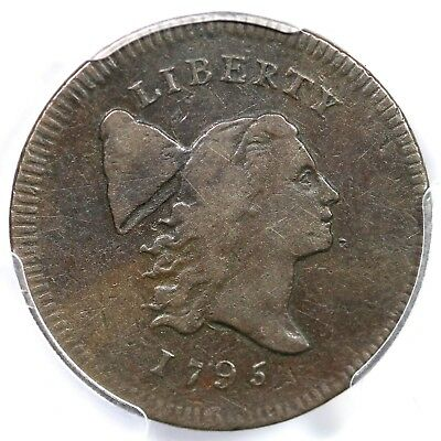 "1795 c-6a R2 PCGS VF30 ""Plain Edge, No Pole"" Liberty Cap Half Cent Coin 1/2c"