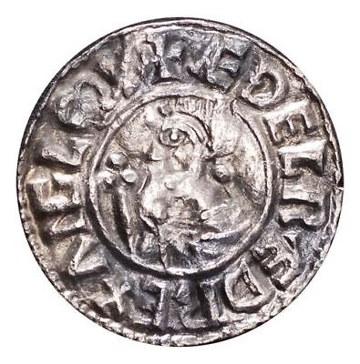 Great Britain: England Aethelred II Silver Coin  Penny Crux type