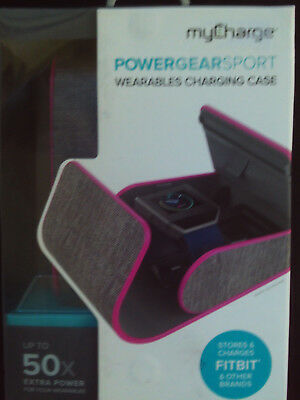 MyCharge POWERGEARSPORT Wearables Charging Case Stores and Charges Fitbit+others
