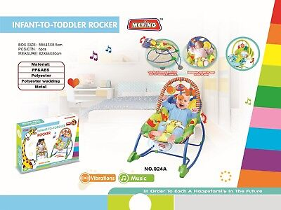Infant-to-Toddler Rocker Chair Musical Viberation Baby Bouncing Chair 024D UK