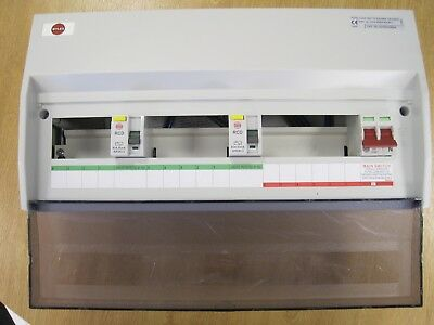 NEW - Wylex 15 Way NHRS45604 Dual RCD Split Load Insulated Consumer Unit