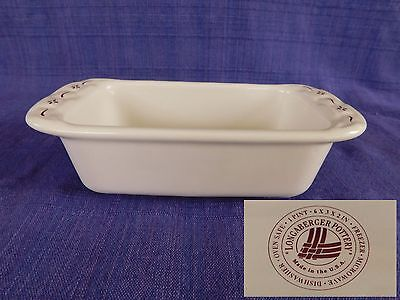 """Longaberger Woven Traditions Red MINI LOAF PAN (1 Pint) 8"""" long"""