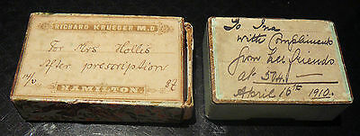 2 Antique Prescription Boxes 1910