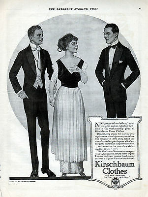 1914  Kirschbaum Clothes Ad --Custom Tailored --x767