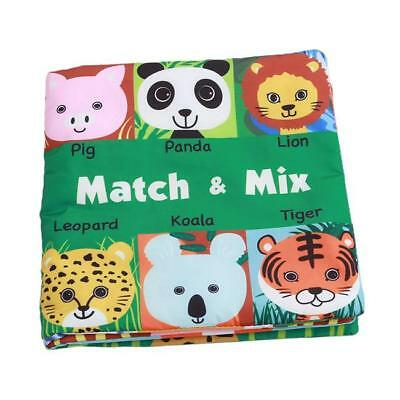 Baby Kid Animal Tails Cloth Book Soft Development Books Learning Education Toy H