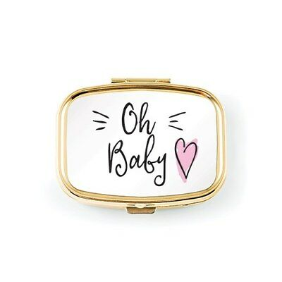 Gold Baby Tooth Keepsake Box with Pink or Blue Heart Boy or Girl Q28479