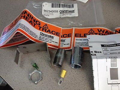 Chromalox Thermwire Heat Trace Junction Box Pipe Mounting Kit 562340005 386599 ?