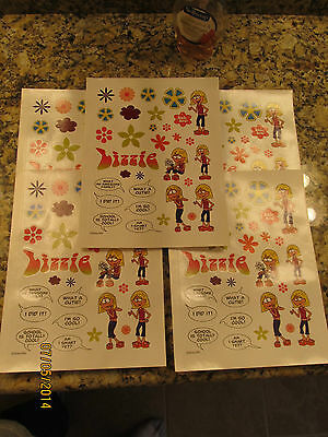 LIZZIE McGUIRE 2004 DISNEY . 4 NEW SHEETS OF STICKERS = OVER 100 TOTAL .