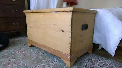 A Good Antique Pine Blanket Box
