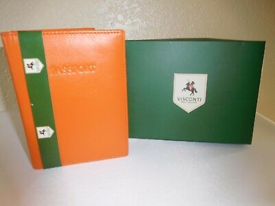 New Visconti Soft Leather RFID Blocking Passport Cover Wallet - POLO 2201/R- NIB