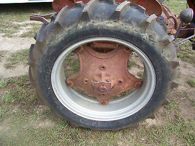 "VINTAGE JI CASE VAC   TRACTOR -11.2 x 28""  FIRESTONE TIRES &  WHEELS   x 2"