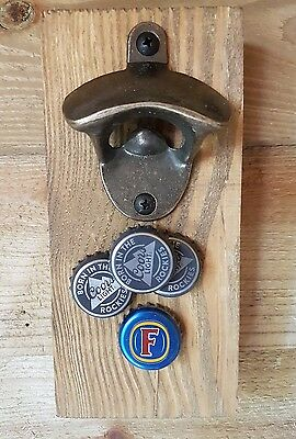 Rustic Wall Mounted Bottle Opener With Magnets