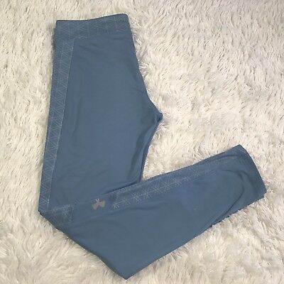 Under Armour ColdGear Legging Girls YXL Youth Steel Blue Yoga Athletic Pre-owned