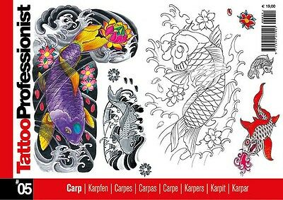 Inspire Uk Tb35 Professionist Koi Carp  No.05 Tattoo Design
