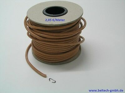 Leather Drive Belt, Round Belts, Band, Straps, 4 mmø