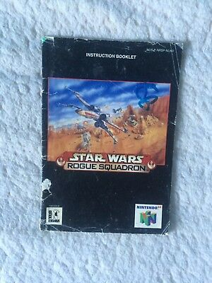 Star Wars Rogue Squadron INSTRUCTION BOOKLET / MANUAL ONLY N64 Nintendo PAL