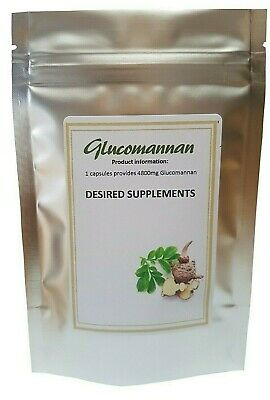 Glucomannan Konjac  MEGA Strength Veg Capsules 4800mg - Weight Loss - NO FILLERS