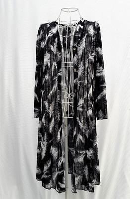 WOMENS Duster JACKET Sheer KIMONO Top B/W Pattern COVER UP Plus Size 18-24 Cardi