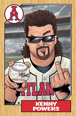 DANNY McBRIDE KENNY POWERS FROM TV SHOW EASTBOUND & DOWN ACEO ART CARD