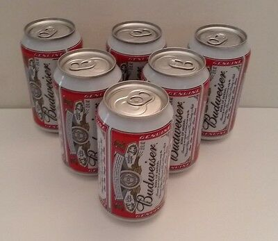 6 Budweiser Diversion Safe, Can Safe, Money Or Jewelry Stash Can