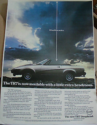 Triumph Tr7 Drophead Advertising Poster Print A3