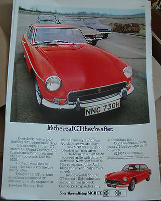 Mgb Gt Advertising Poster Print A3
