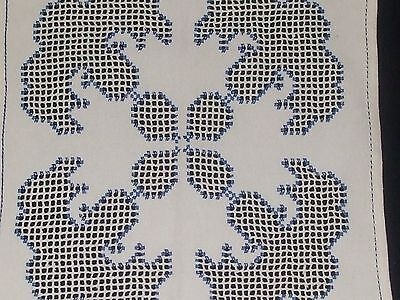 """Beautiful Vintage Cutting Hand-Embroidered Linen Hardanger12.6"""""""