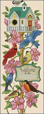 Welcoming Friends - Cross Stitch Chart - Free Postage
