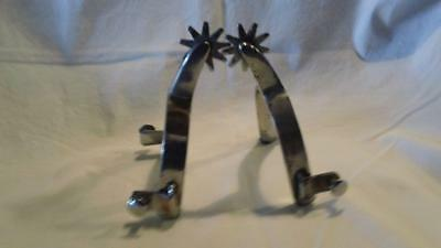 Vintage Used Chrome Plated Working Spurs - Free Shipping