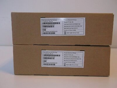Lot of 2 New Cisco IP Phone 7861 - CP-7861-K9 (charcoal only)