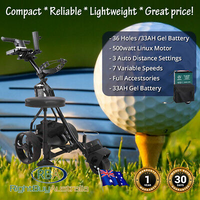 NEW Motorised Electric Golf Buggy Trolley Digital 33 AH Battery Full Accessories