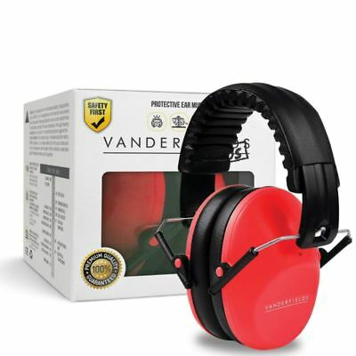 Ear Defenders for Kids Toddlers Children Babies Hearing Protection Earmuffs Red
