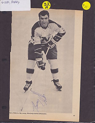 Signed Barry Gibbs Photo Magazine Cut Out