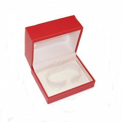 1 Classic Red Leatherette Watch Jewelry Display Presentation Gift Box