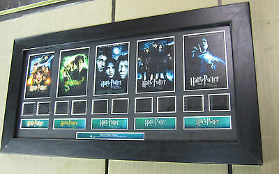 """Harry Potter 1-5 Authentic Original Filmcell Special Edition 19"""" x 10"""" Framed"""