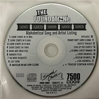 Sound Choice Karaoke The Foundation's Alphabetical Song And Artist Listing 7500