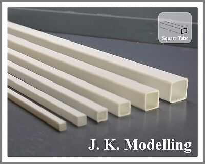 ABS Styrene 6pcs Mixed Square Tube - Suitable for all Model Trains etc.