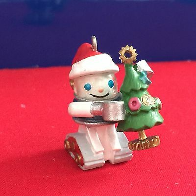 Hallmark Miniature Ornament Gearing Up For Christmas 2001