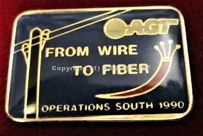AGT ALBERTA GOVT TELEPHONES OPERATIONS SOUTH FROM WIRE TO FIBER Lapel Pin Mint