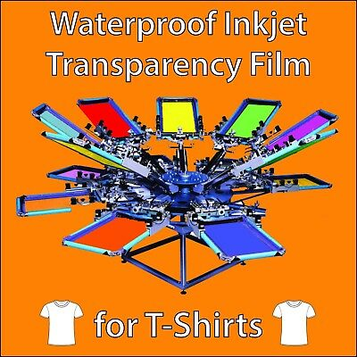 "Waterproof Inkjet Transparency Film 8.5"" x 11"" (10 Sheets)"